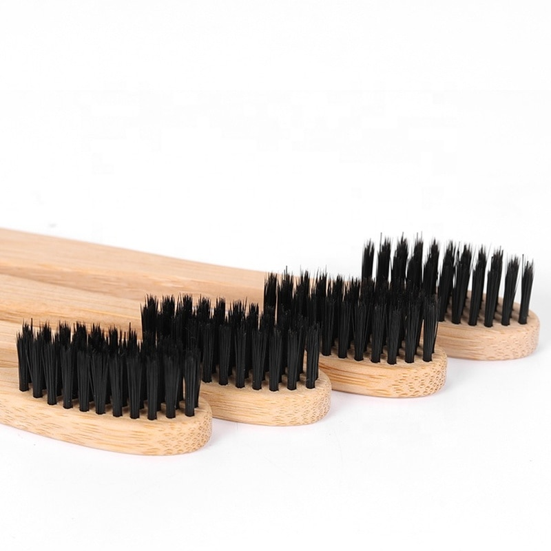 1 Uds cepillo de cerdas de bambú de carbón cepillo de dientes de madera para adultos cepillo de dientes de viaje cepillo de dientes de carbón amigable herramienta de fácil cepillado