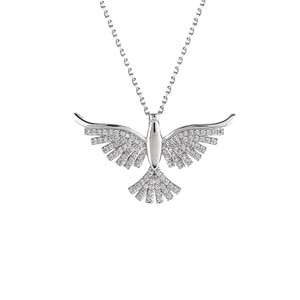Fashion all-match eagle necklace women's jewelry personalized design micro-inlaid zircon Dapeng wings pendant clavicle chain nic