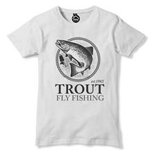 Trout Fly Fishing T Shirt Fish Trip Carp Tshirt Rod Bait Angling Top 211