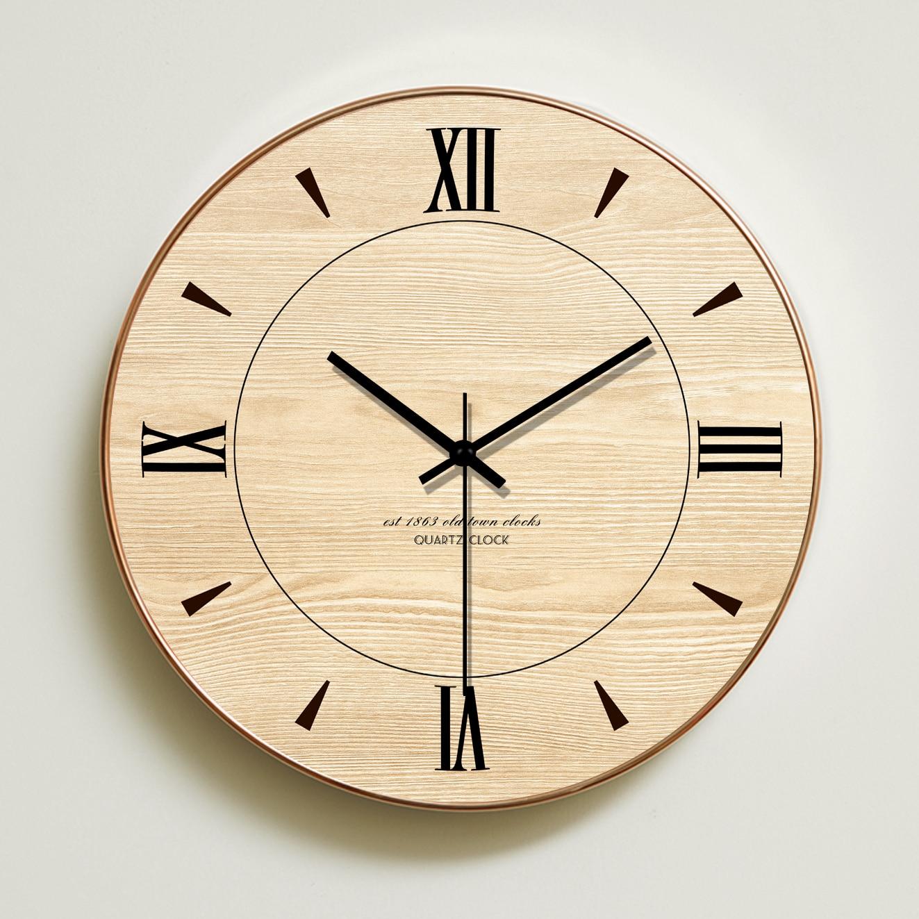 Reloj de pared minimalista, Relojes de pared de madera de diseño moderno,...