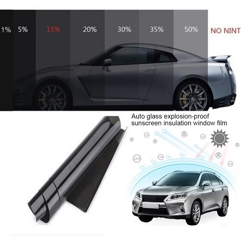 Filme de janela de carro anti-uv folhas de janela de carro matiz filme de matiz rolo de vidro de janela de casa de carro verão solar uv protetor de adesivos filmes