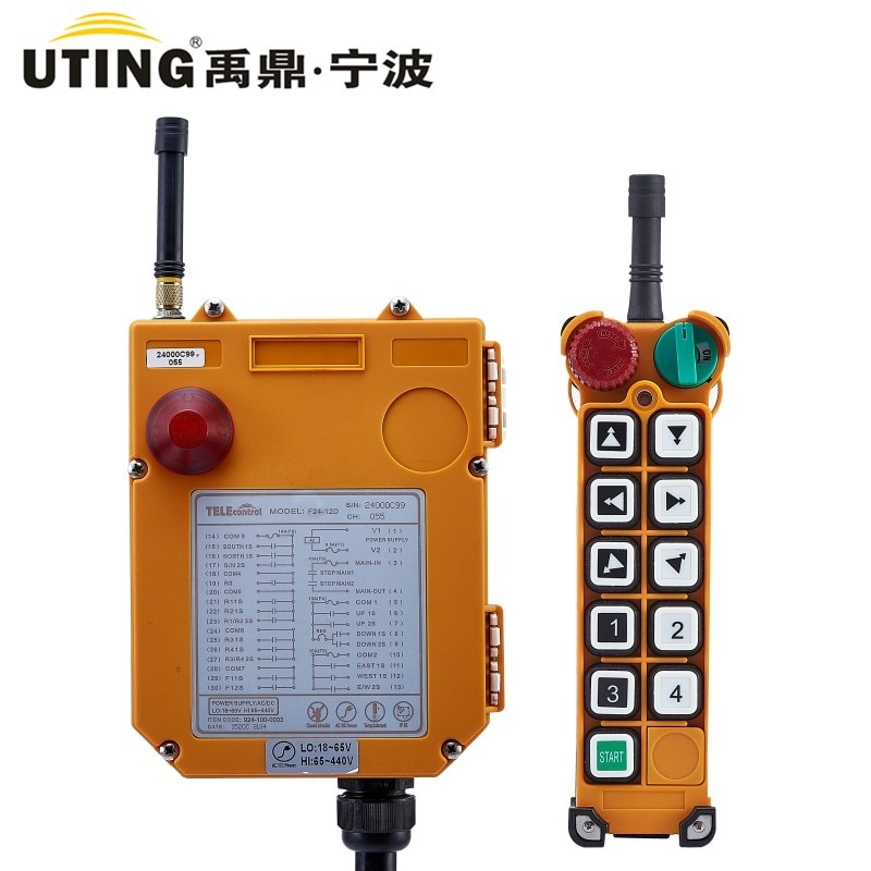 Industrial Wireless Radio Remote Control F24-10D for Hoist Crane 1Transmitter 1 Receiver