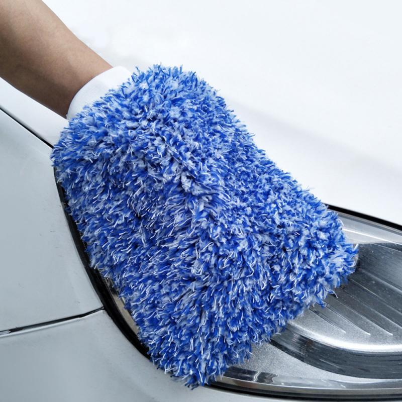 Limpeza do carro luvas de carro macio limpeza do carro ultra macio fácil de secar auto detalhando microfibra lavagem luva pano toalha dropshipping