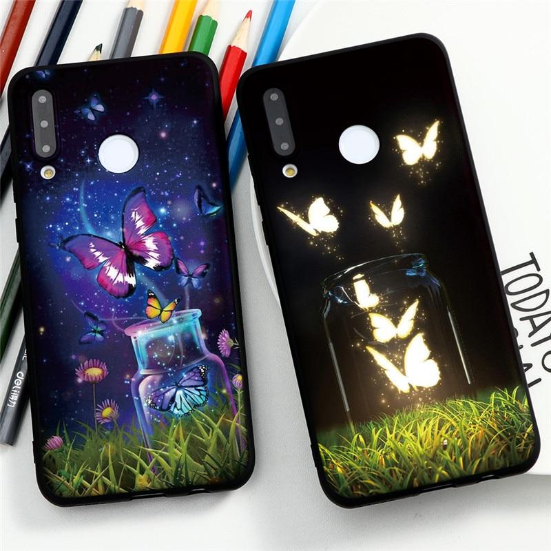 Lindo patrón de mariposa funda de silicona para Huawei Y6P Y5P Honor 8X jugar 9A 10i 20i 10 9 9S 7A Pro Lite nova 7 6 iPhone 5 5i Pro Coque