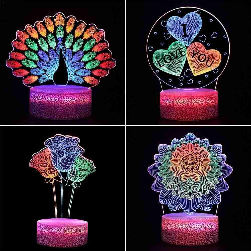 Светодиодный Ночной светильник, светодиодный ночник для дома, декор для свадьбы, подарок