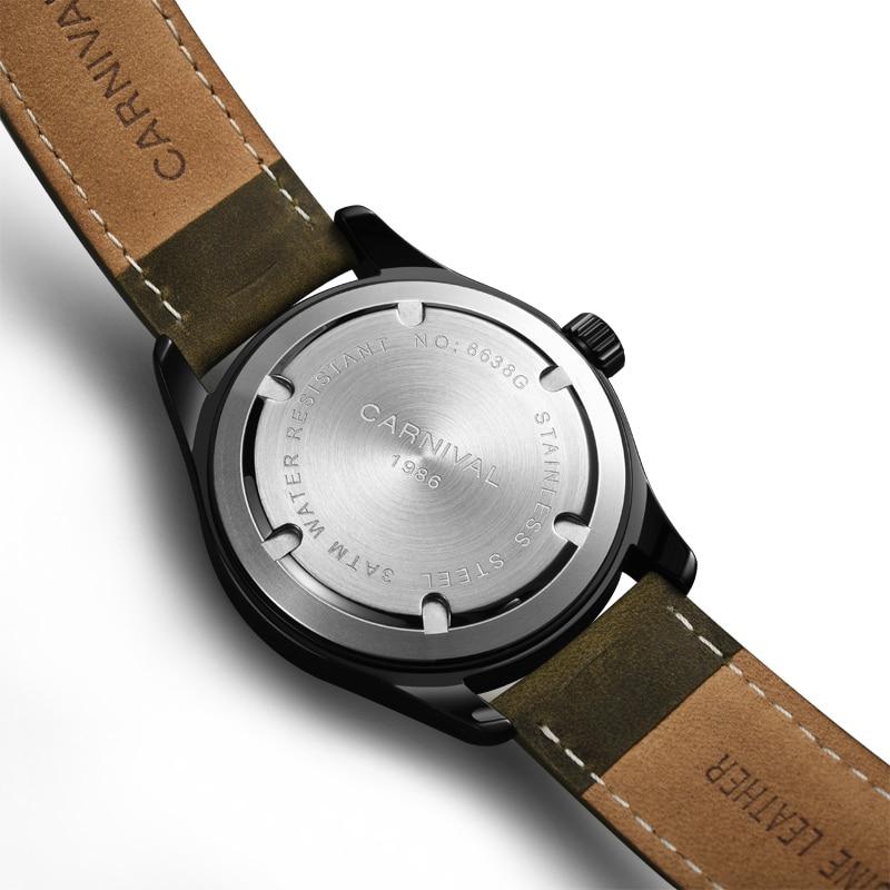 Carnival Top Brand Fashion Camouflage Watch Man Luxury Waterproof Luminous Calendar Military Quartz Wristwatch Relogio Masculino enlarge