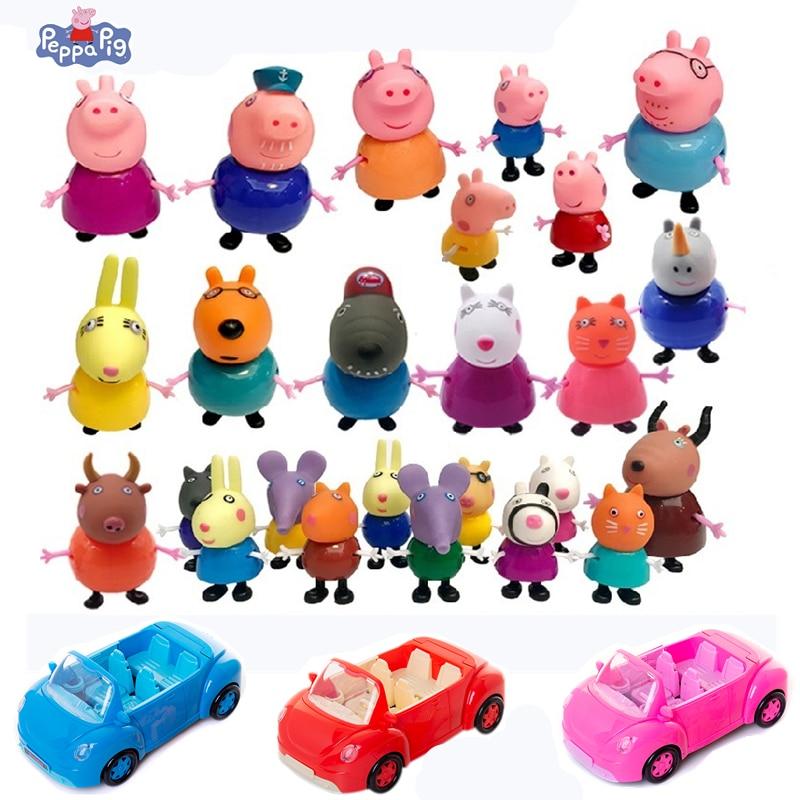 Peppa Pig toys Action Figure George Peppa Pig School Desk Peppa Pig's Friends Piggy Teacher Model Dolls Children Toy