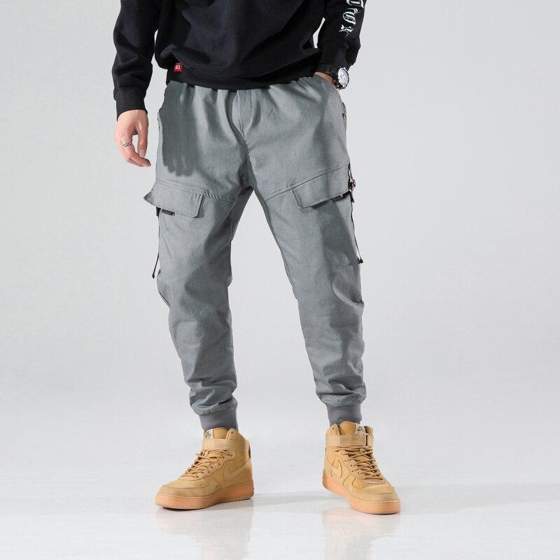 2020 Men Military Pants Loose Work Cargo Pants Tactical Casual Long Cotton Trousers Joggers Pants Man Multi Pockets Streetwear