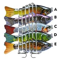 multi section sinking minnow fishing lures artificial food for fish hard lure 7 knots bait 10cm 15 5g luya wobblers crankbaits