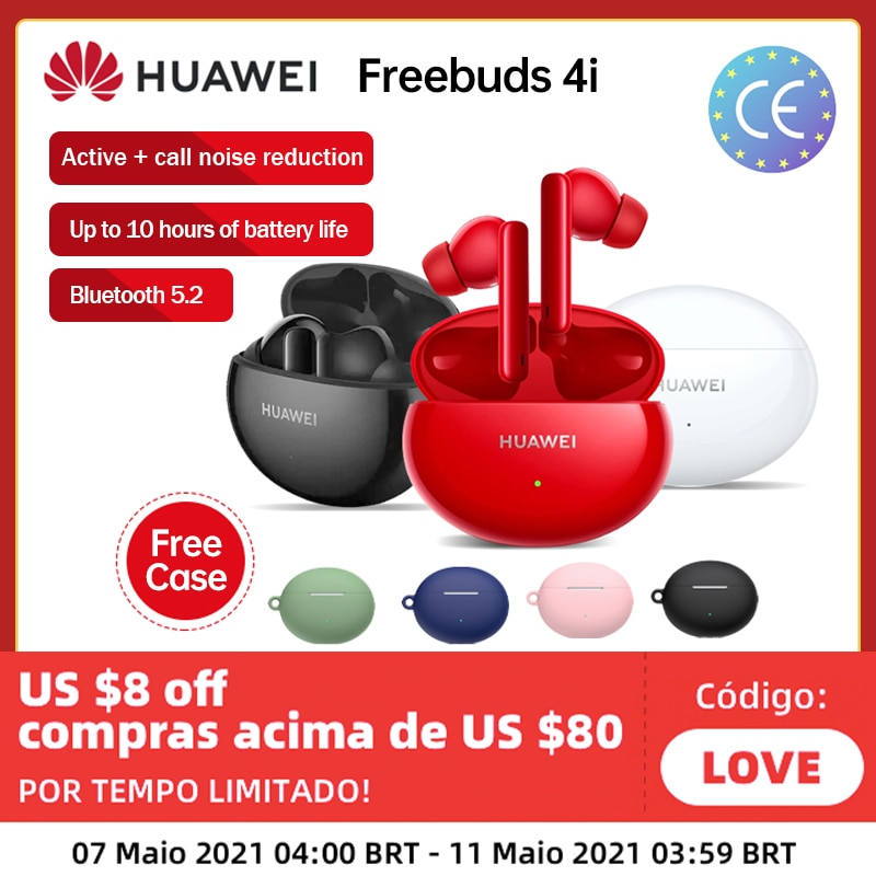 Global Version Huawei FreeBuds 4i 4 i Wireless Headphone Active Noise Call Reduction Bluetooth 5.2 E