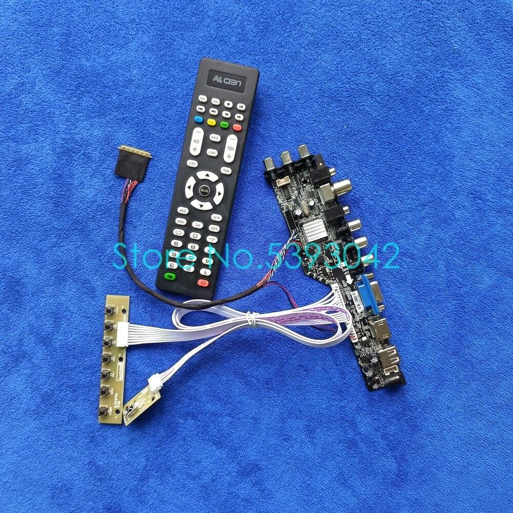 DVB 40-Pin digital display board kit 1366*768, لـ LTN156AT26/LTN156AT27/LTN156AT29/LTN156AT30 LVDS USB VGA AV