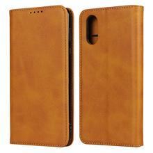 For Sharp Aquos Sense 3 Plus Calf leather wallet phone case for Sharp AQUOS Sense 3 Sense3 lite Card Slot magnetic Flip cover