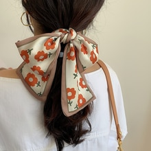 A Little Red Flower ~ Spring and Summer Decoration Small Silk Scarf Small Scarf Arm Bag Ribbon Hair