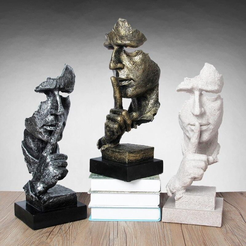 Abstrato pensador estátua sala de estar decoração escultura ornamentos resina gabinete tv figurinhas decoração para casa artesanato