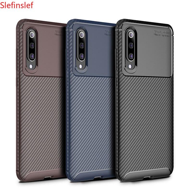 Stoßfest Telefon Fall Stoßstange Silikon Carbon faser Abdeckung Auf Für Xiaomi MI 9 SE 9T Pro Mi9 9SE Mi9t t 6/8 64/128/256 GB Xiomi