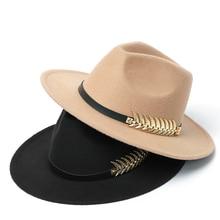 Mens Fedora Hat Wool Felt Woman Winter Gentleman Church Hat Autumn Classic Jazz Top Hats Women 2020
