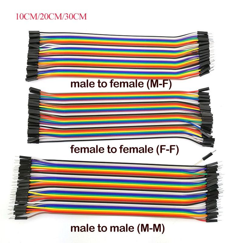 10CM/20CM/30CM de alambre de puente macho a macho hembra a conector hembra...