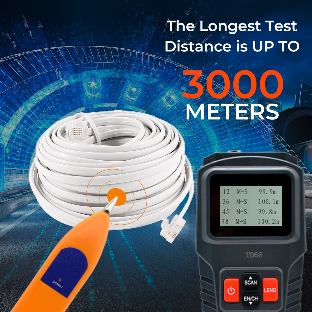 New LAN Network Cable Tester Tracker Diagnose Tone Finder Telephone Wire Tracker Inder Detector Networking Tools Line Finder enlarge