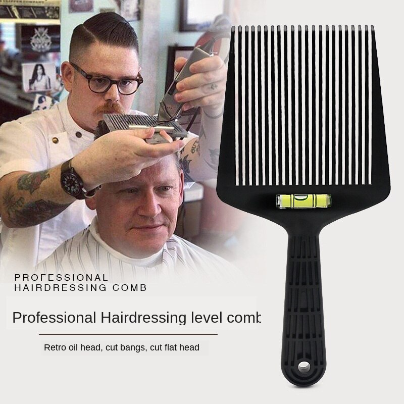 Peluquería peinado plano peine de pelo ancho con nivel instrumento coloración y tinte pigmento mezcla cepillo para revestimiento herramienta G0115