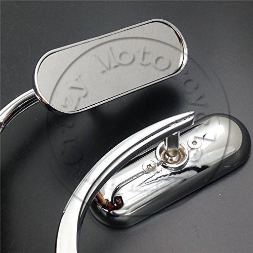 Motocicleta VTX 1300 para Honda Rebel Shadow 600 750 VTX 1300 1800 Piezas de motocicleta espejos de carreras mini espejo retrovisor oval