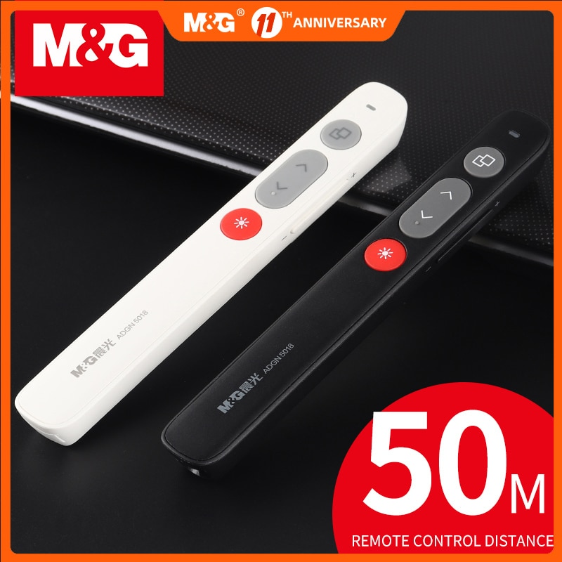 M&G Presentation Clicker Laser Pointer 160FT Wireless Presenter Remote PowerPoint Clicker 2.4GHz Pointer Laser Pen Cat Laser Toy