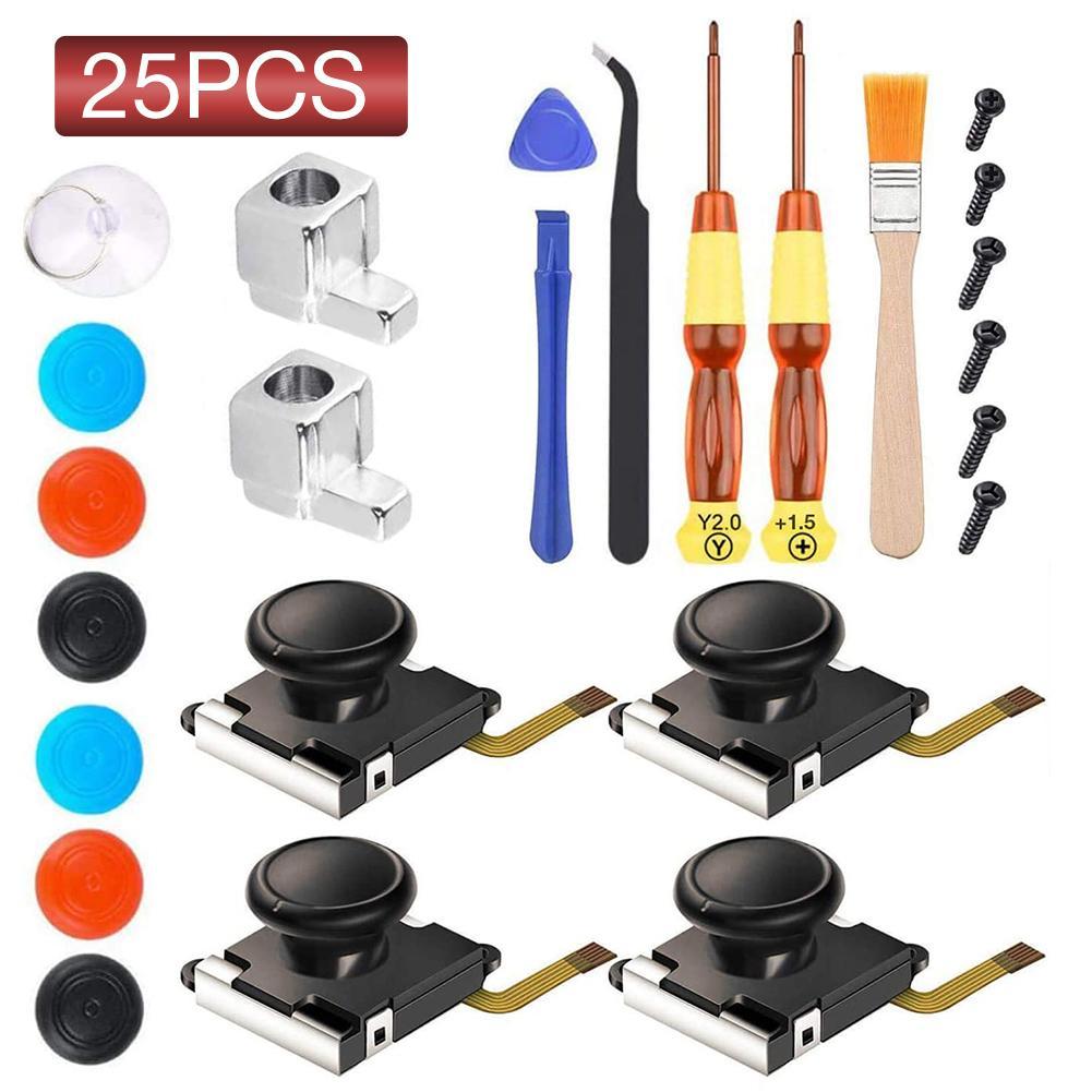 25 In1 3D Analog Joystick Replacement Parts Wear Resistant Controller Repair Kit For Nintendo Switch Lite Joy Con 3D