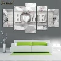 Peinture diamant theme  Home Love Heart   broderie 5d  perles carrees  perles rondes completes  5 pieces