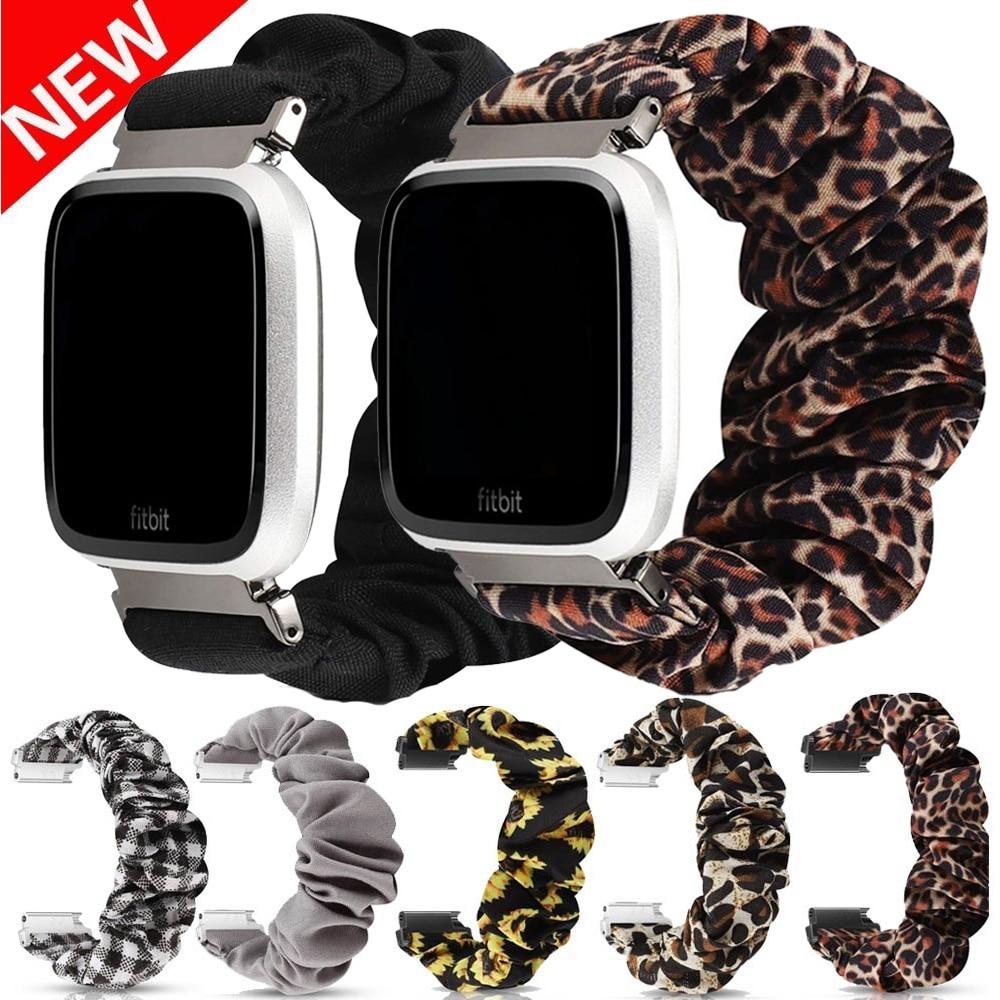 Women Scrunchie Elastic Watch Band For Fitbit Versa Casual Women Girls Strap Bracelet For Fitbit Ver
