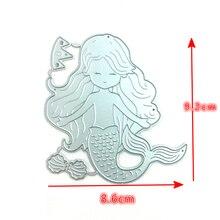 1pcs Lovely METAL CUTTING DIES cut build up sea mermaid Scrapbook paper craft album card punch knife art cutter die