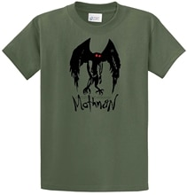 Mothman T-Shirt Moth Man Prophecies Pt. Pleasant W.V. Paranormal Monsters Scary custom printed tshirt Casual Short Sleeve TEE