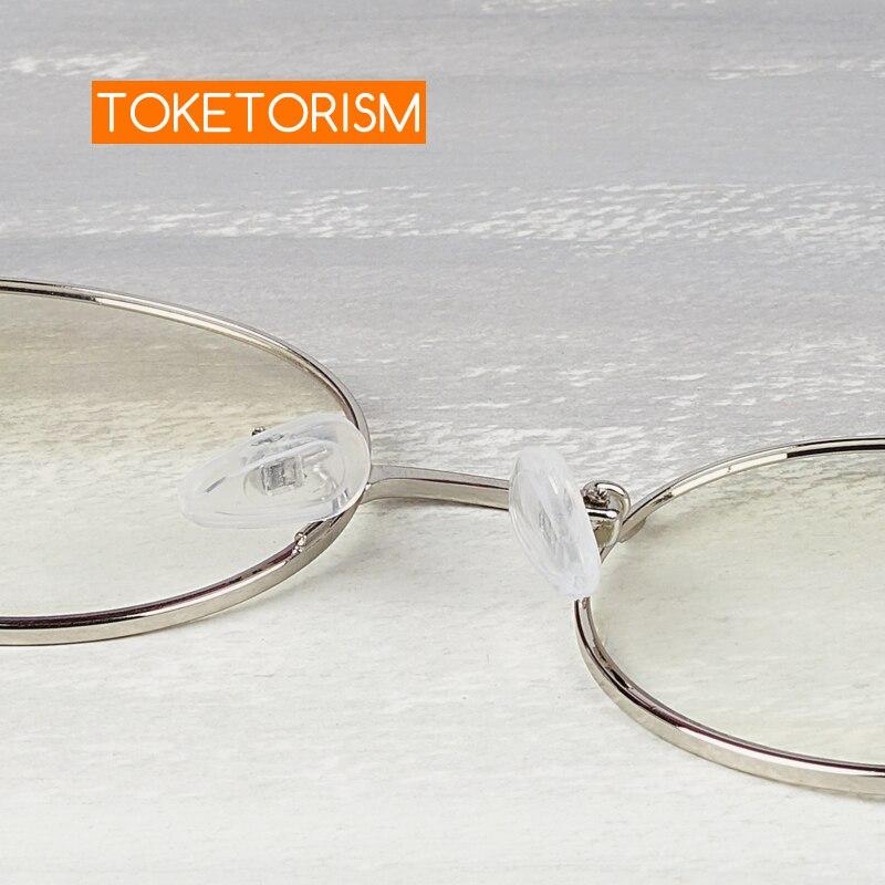 Toketorism 15mm, antideslizante, suave cámara de aire, almohadillas de silicona para la nariz para gafas con tornillos/destornillador/pinzas 10 pares/20 piezas