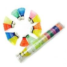 12Pcs Colorful Badminton Shuttlecocks Goose Feather Badminton Balls Outdoor Sports Badminton Accesso