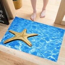 3D Starfish Shell Wall Stickers Murals, Swimming Pool Sticker Summer Aquarium Toilet Door Sticker Gift room decoration