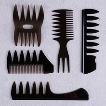 Oil Hair Comb Wide Teeth Hair Comb Classic Oil Slick Styling Hair Brush For Men