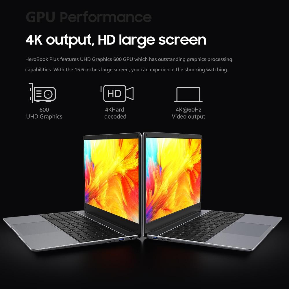 2021 Laptops CHUWI HeroBook Plus 15.6 inch Ultra Laptops Intel Celeron J4125 Quad Core PC 8GB 256GB Camera Computer Hardware