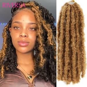 "3- 6pcs New Original Faux Butterfly Locs Crochet Hair Pre-looped 12"" Distressed Soft Locs Crochet Braids Pre-Twist Braiding Hair"