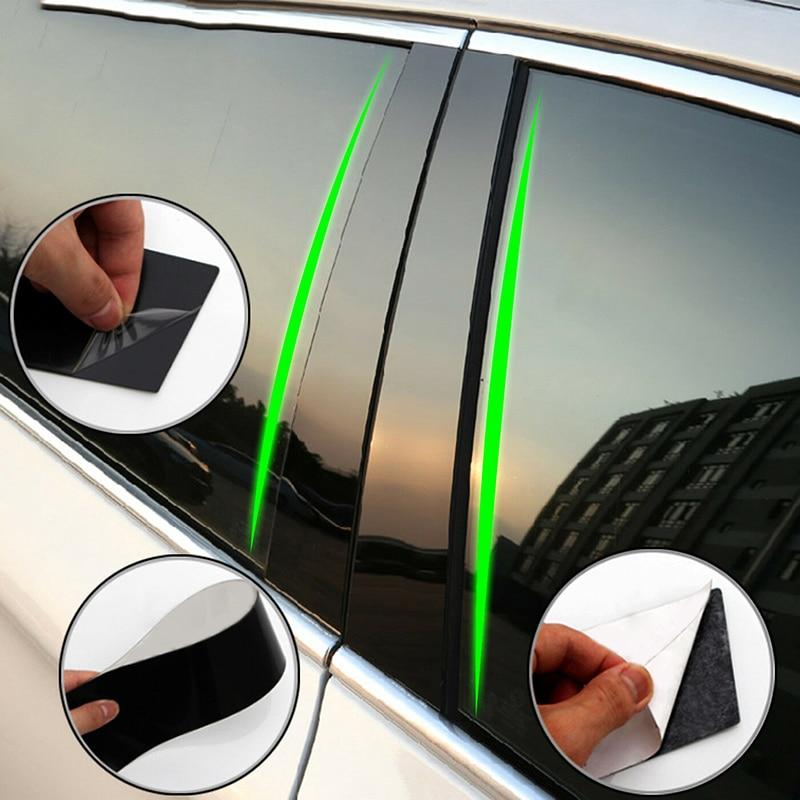 6 uds. Cubierta embellecedora de postes de columna de puerta de coche para BMW Serie 3 F30 2013-2018, accesorios de estilismo para coches