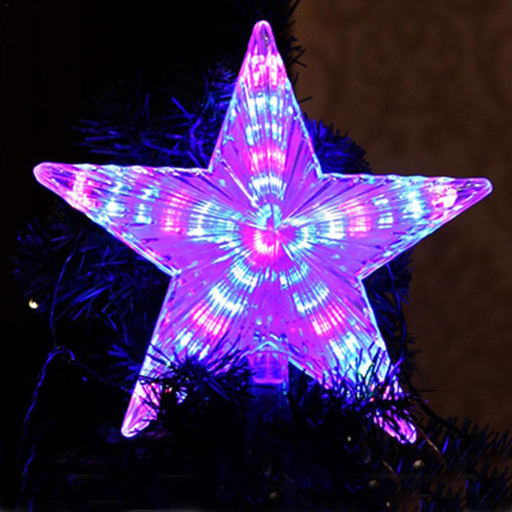 23CM De luz LED árbol De Navidad Topper estrella De Navidad ESTRELLA De Estrelinhas Adornos De Navidad Eve De árbol De Navidad Decoración