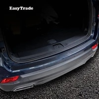 car rear door sill plate protector anti scuff trunk leather sticker for jeep compass accessories 2017 2018 2019 car accessories