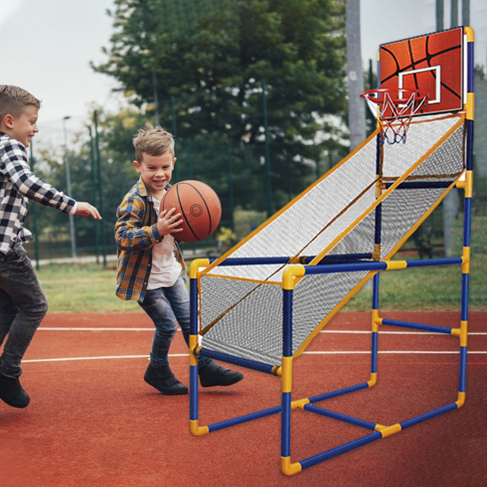 2021 children's inflatable basketball hoop kids arcade basketball hoop game outdoor basketball machine arcade set children's toy