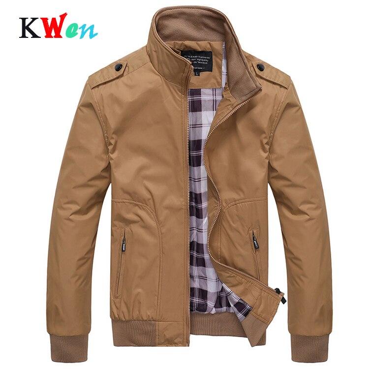 Мужские куртки, весенне-осенние повседневные однотонные куртки со стоячим воротником, тонкие мужские куртки-бомберы большого размера 4XL
