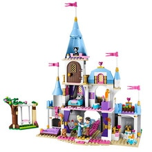 697pcs Cinderella Romantic Castle Princess Friend Building Blocks For Girl Sets Gift Toys Compatible Lepining Friends Bricks