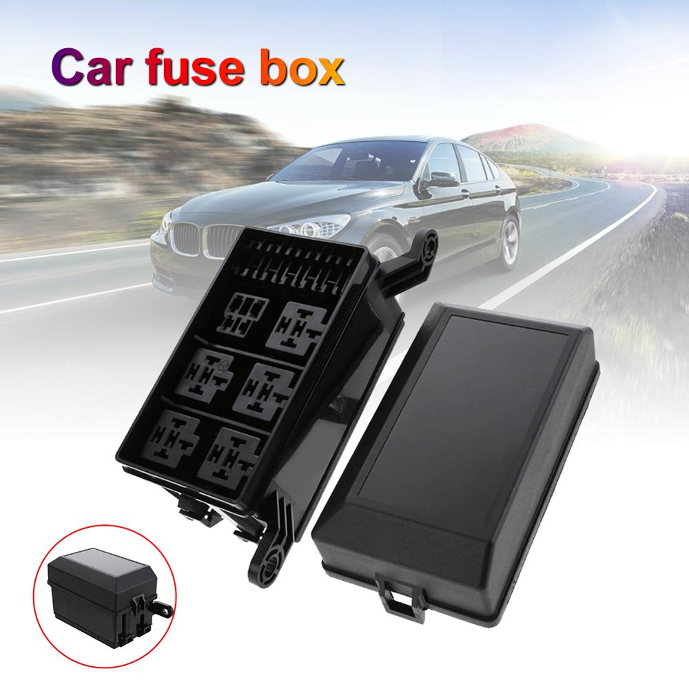 Universal Automotive Fuse Relay Holder 12-Slot Relay Box 6Relays 6 ATC/ATO Fuses Automotive Accessor