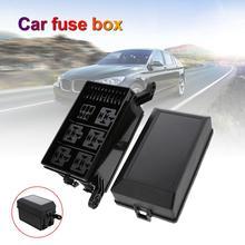 Universal Automotive Fuse Relay Holder 12-Slot Relay Box 6Relays 6 ATC/ATO Fuses Automotive Accessor