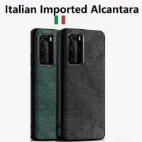 fashion case for huawei p50 p40 p30 lite p20 pro mate 30 20 pro honor 30 v30 luxury alcantara artificial leather phone cover