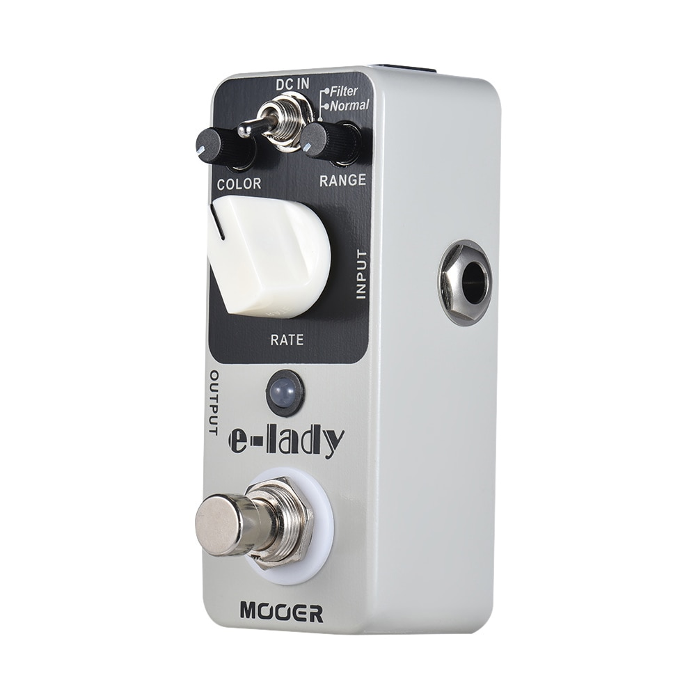 MOOER E-Lady Guitar Effect Pedal Distortion Pedal 2 Modes Processor 2 Classic Analog Flanger Guitar Pedal True Bypass Parts enlarge