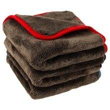 Улучшенные тряпки для очистки автомобиля 1200gsm, ультратолстое Полотенце Для Сушки автомобиля, ткань из микрофибры, мягкое супервпитывающее чистящее полотенце