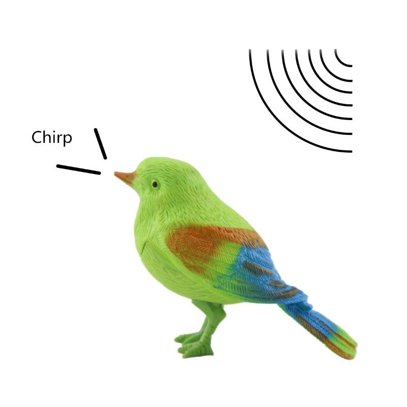Novelty Voice Controlled Bird Call Chirp Electronic Pet Gag Kids Baby Toy