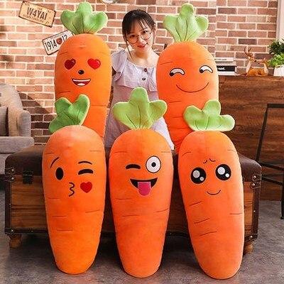 45/70cm dibujos animados sonrisa zanahoria juguetes de felpa Linda simulación de verdura frutas almohada muñecas rellenas suave niños regalo Fsx