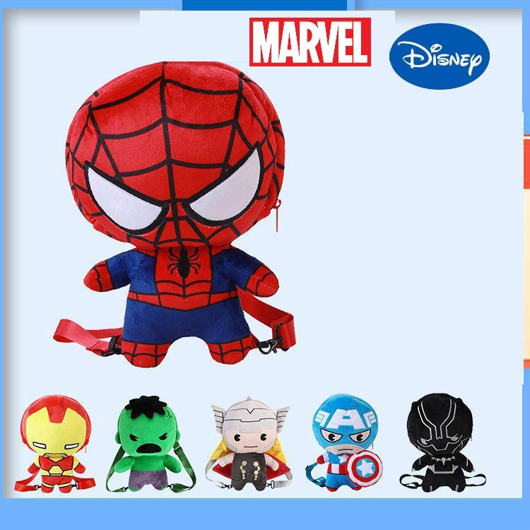 Genuine Disney Marvel Spiderman Plush Cartoon Backpack 3-6 Years Old Children's Toy Travel Cartoon Travel Backpack